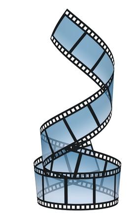 Roll film: tira de negativos sobre los fondos blancos Foto de archivo