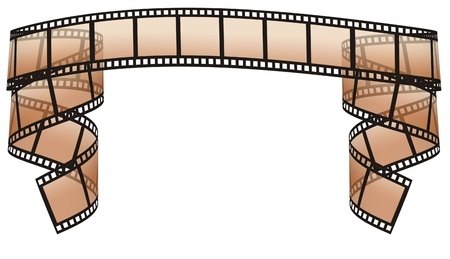 square tape: filmstrip on the white backgrounds Stock Photo