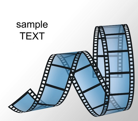 filmstrip on the white backgrounds photo