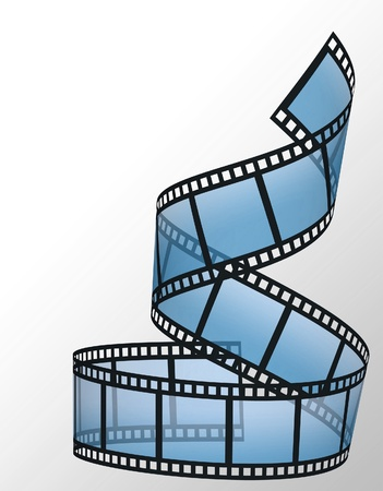 negative spaces: filmstrip on the white backgrounds Stock Photo