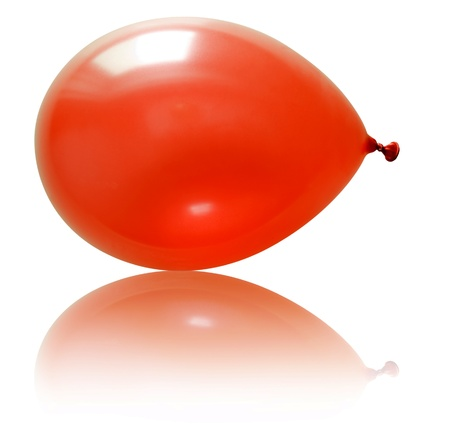 Inflatable balloon, photo on the white background