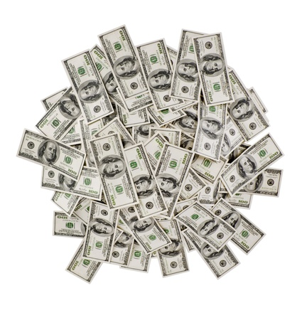 a lot of money: big pile of the money. dollars usa Stock Photo