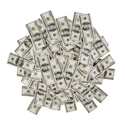mucho dinero: gran pila de dinero. d�lares EE.UU. Foto de archivo