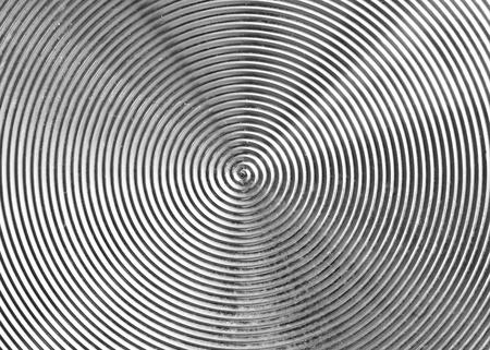 brushed: Circular metal brushed texture
