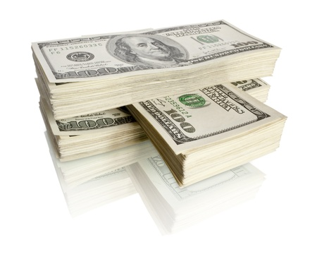 money pile: big pile of the money. dollars usa Stock Photo
