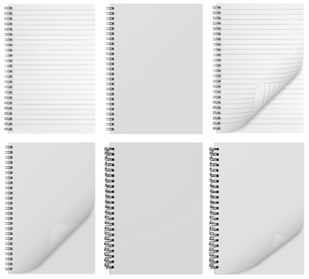 blank background. paper spiral notebook isolated on whit Stock Photo - 10502156