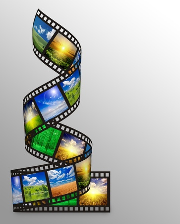 filmstrip on the white backgrounds Stock Photo