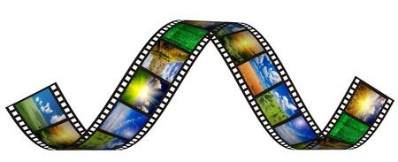 negative film: filmstrip on the white backgrounds Stock Photo