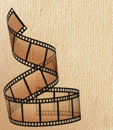 filmstrip on the white backgrounds Stock Photo - 12805502