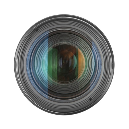 lens on a white background Stock Photo - 12805489