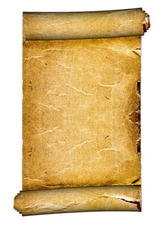 rękopis: stary Blank Scroll na białym tle