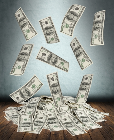 big pile of money. dollars over white background Stock Photo - 15828571