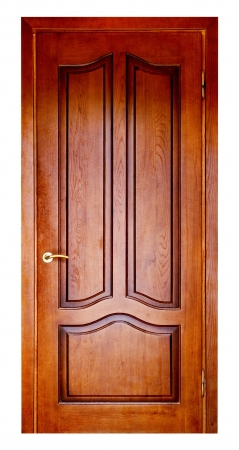 wooden door isolated on white. backgrounds Stock Photo - 16568168