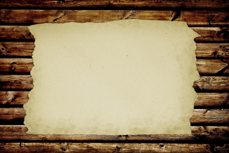 old notebook: paper page notebook. textured isolated on the wood backgrounds. Stock Photo