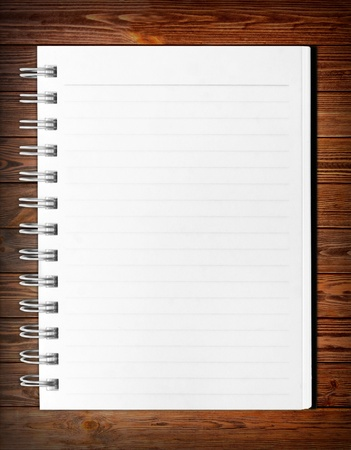 blank background. paper spiral notebook isolated on white Stock Photo - 18460106