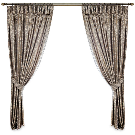 window frame: curtains on a white background