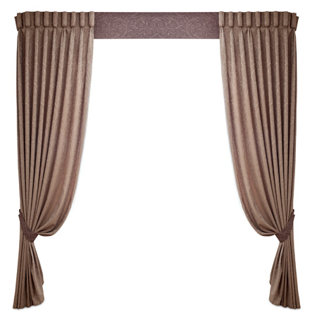 window curtains: fabric curtains on a white background