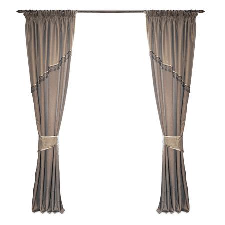 curtains: cortinas de tela sobre un fondo blanco