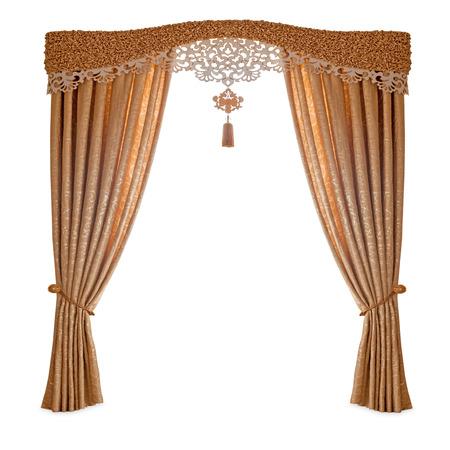 telon de teatro: cortinas de tela sobre un fondo blanco