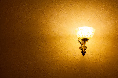 light house: glowing lantern on a wall for advertising Stock Photo