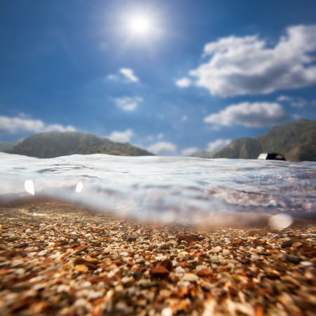 background sand on the beach underwater photo