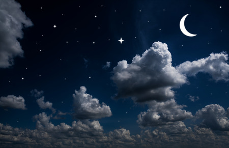 moon surface: backgrounds night sky with stars and moon and beautiful clouds