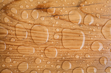 water drop on a wooden background Zdjęcie Seryjne - 36618577