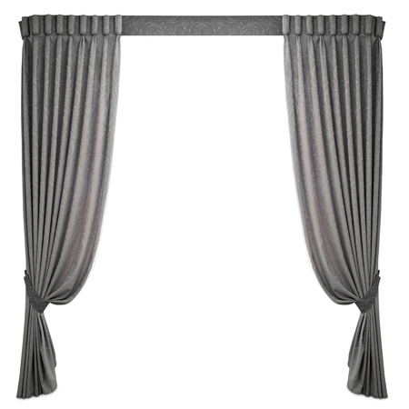 window curtain: fabric curtains on a white background