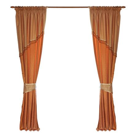 cortinas: cortinas de tela sobre un fondo blanco
