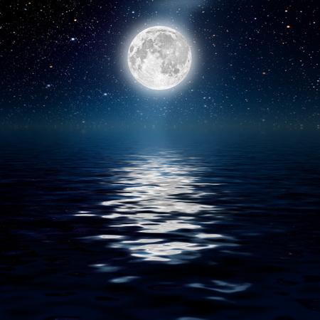 별과 달과 구름 배경 밤 하늘. 목재. NASA가 제공 한이 이미지의 요소