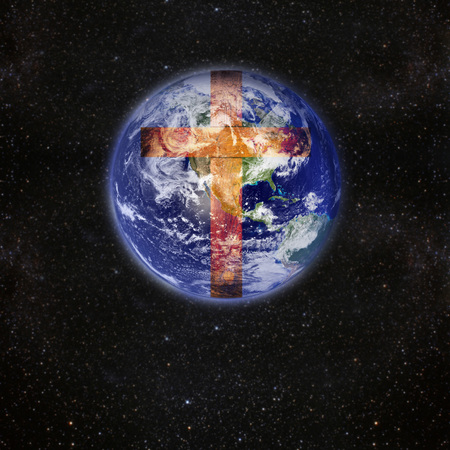 hands holding earth: a picture that says that Jesus is the salvation Elements of this image furnished by NASA Stock Photo