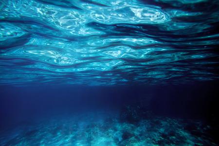 bottom: the underwater sea Stock Photo
