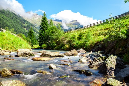 tauern: stream in the mountains in the national park Hohe Tauern in Austria.
