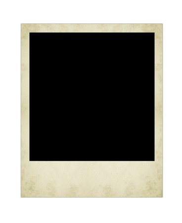white picture frame: polaroid  photo isolated on the white backgrounds
