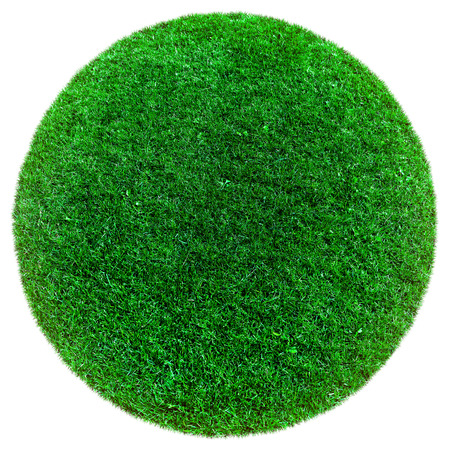 green world: green earth grass on the white backgrounds