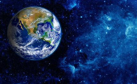Widok Ziemi z Księżyca. Zdjęcie Seryjne