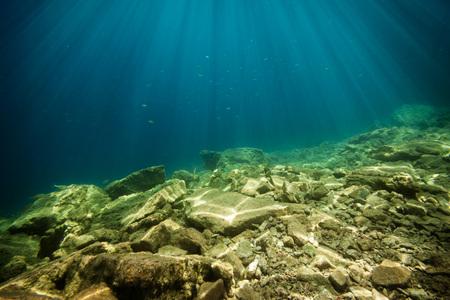background sand on the beach underwater Stock Photo