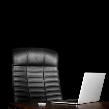 blank desktop on a black background