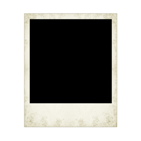 underside: instant camera photo frame  isolated on the white backgrounds