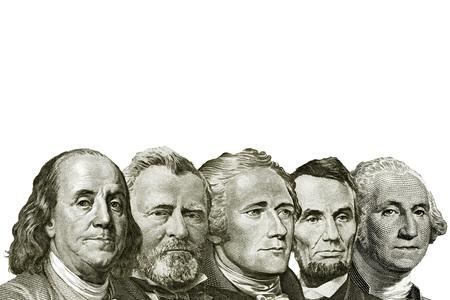 isolated dollars on white background