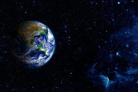 Vue de la terre depuis la lune. Banque d'images