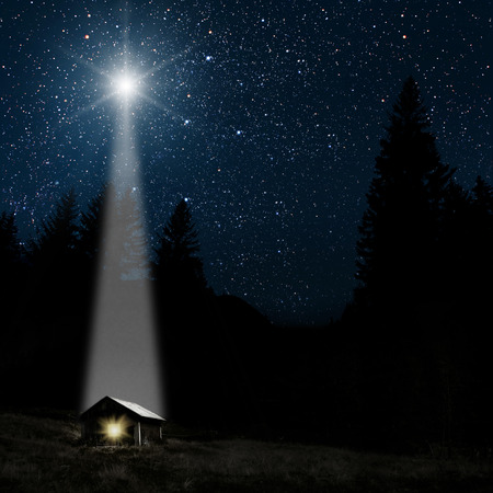 The star indicates the christmas of Jesus Christ. Stockfoto - 113427244