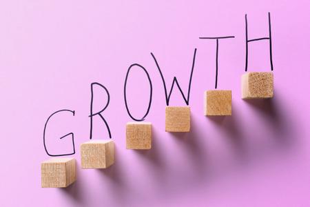 growth business Violet color concept.