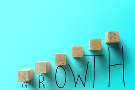 growth business turquoise color concept. Фото со стока