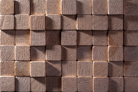 a background of colored wooden squares Banco de Imagens - 121621624