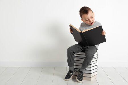 children read a book
