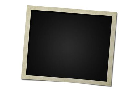 photo frame card isolated on the white backgrounds Stok Fotoğraf