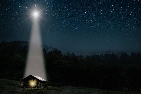 La estrella indica la Navidad de Jesucristo. Foto de archivo