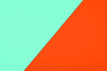 Aqua Menthe and Lush Lava piece of paper in pastel colors