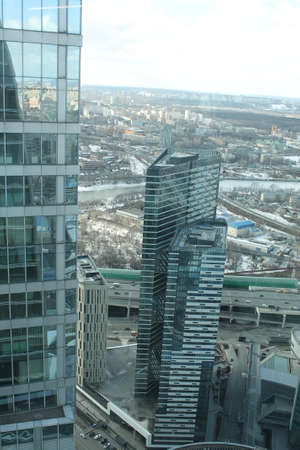 Moscow / Russia-03.09.2019: Moscow City (Eurasia Tower and IQ Quarter Towers). Moscow International Business Center (MIBC). Business centers. IQ-quarter 3.